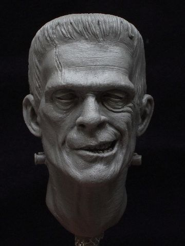 A close up pic of my Karloff tribute.....sculpted in super sculpey firm for a…