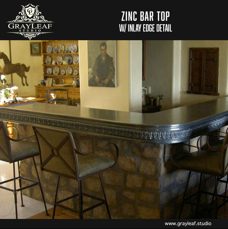 20 Best Zinc Countertops And Bar Tops By Grayleaf Studio Images On Pinterest
