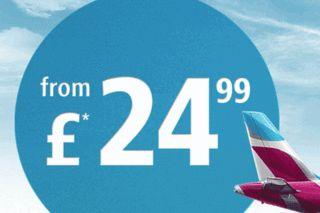 Bargain flights from £24,99*!