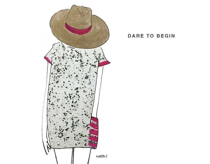 Dare to begin by Marta Scupelli • www.stripe-me.com