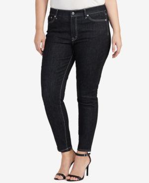Lauren Ralph Lauren Plus Size Ankle-Grazing Denim Jeans - Asphalt 22W