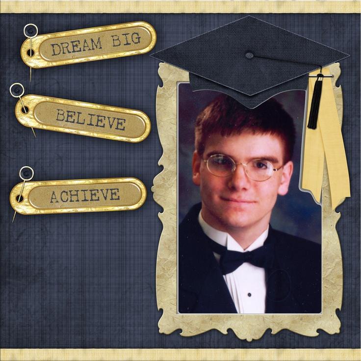 graduation scrapbooking Michaelu0027s Graduation Digital