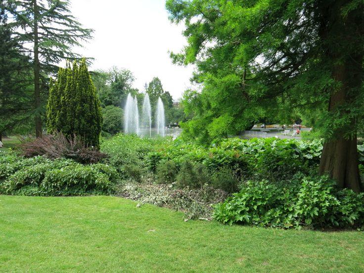 Leamington Spa, The Jephson Garden Fountains 2015
