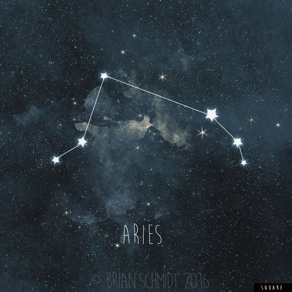 aries constellation art print stars room decor zodiac
