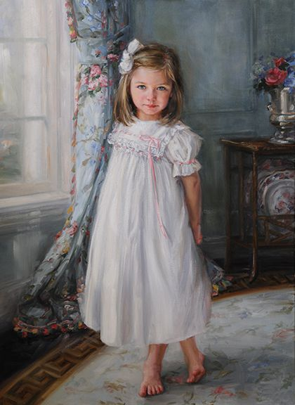 Beautiful, classic girl's portrait by a Portraits, Inc. artist