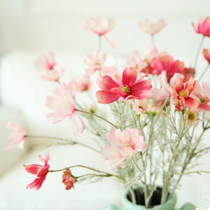 Купить 10 шт. Gesang малый космос одной ветви цветочный искусственные цветы шелковый цветок свежий гостинаяи другие товары категории Декоративные цветы и венкив магазине M0M0 Dream StoreнаAliExpress. цветочница свадебные подарки и цветок живопись
