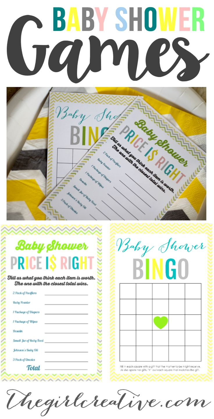 Free Printable Baby Shower Games - Download Baby Shower Price is Right , Baby Shower Bingo or BOTH! Great baby shower idea for when you are on a tight budget.
