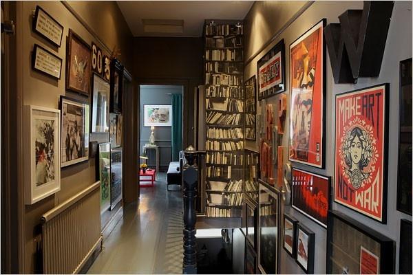 Surrounded by ArtWall Art, Street Artists, Make Art, Wall Decor, Hallways, Home Interiors Design, Bookcas, High Low, Dark Wall