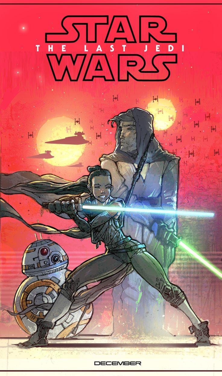 #STARWARS #ThelastJedi #Fanart #Comics