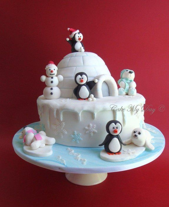Christmas Cake Decorations Penguins : Best ideas about igloo cake on penguin