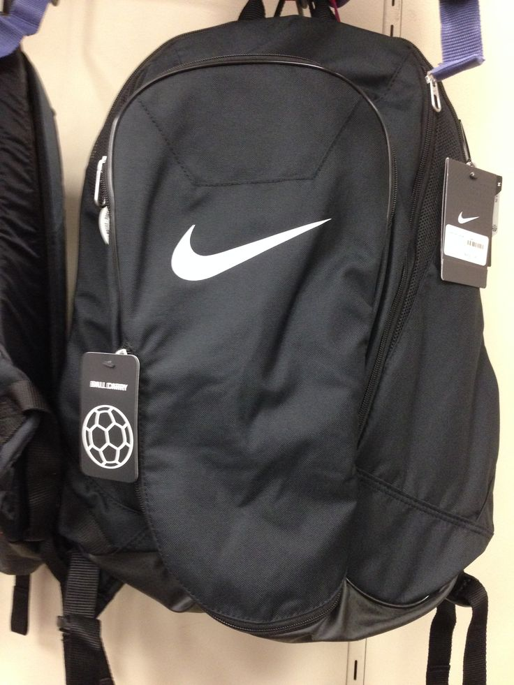 Black Nike Soccer Backpack; Backpack with Ball Carry Compartment
