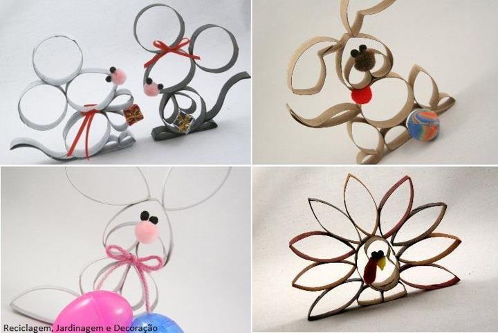 animales hechos con tubos de papel higiénico II | rollos de papel ...