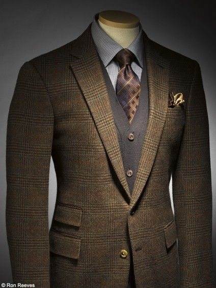 nicely styled suit in the British tradition