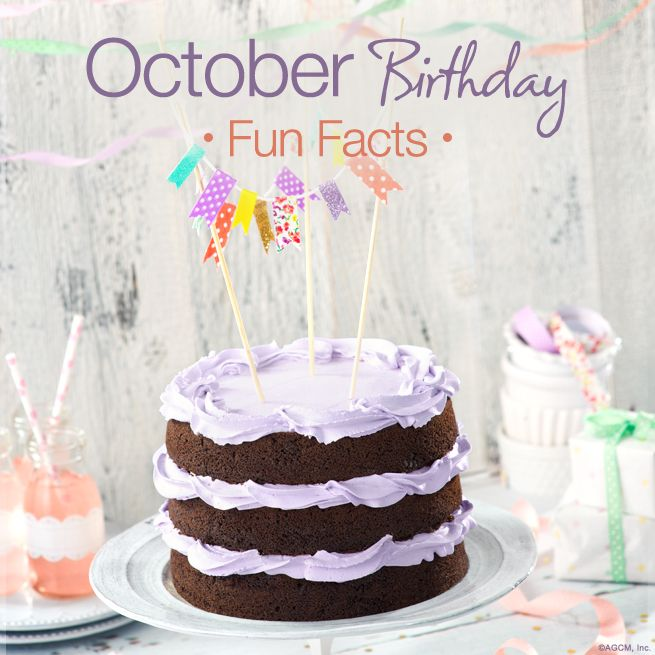 October Birthday Fun Facts: There are two birthstones this month –opals and tourmaline.