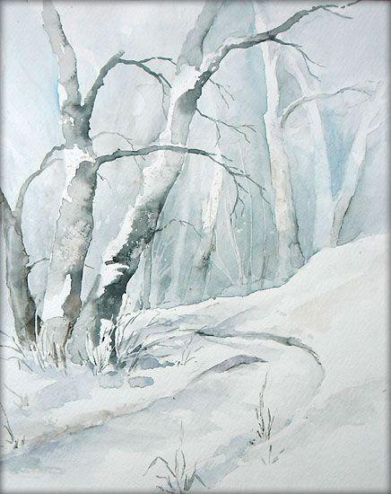 """""""Winterwald"""" - Aquarell / Watercolor"""