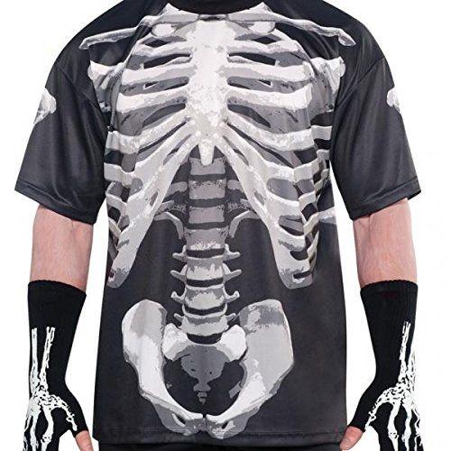 Adult Black and Bone T-Shirt - Skeleton. Amscan International Skeletons  Black and Bone