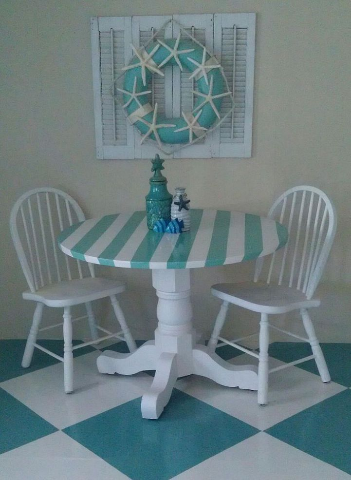 352 best diy tables repurposed images on pinterest for Nautical kitchen table