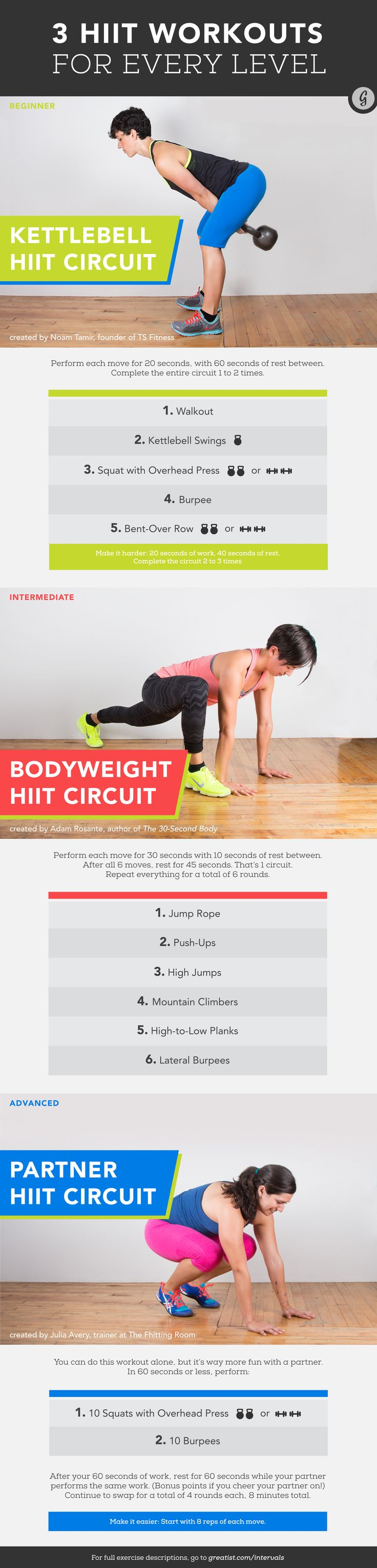 Interval Training Workouts for Every Level #interval #training #HIIT #workouts