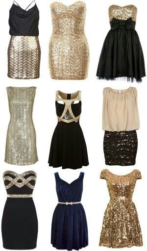 New years eve and new years dresses