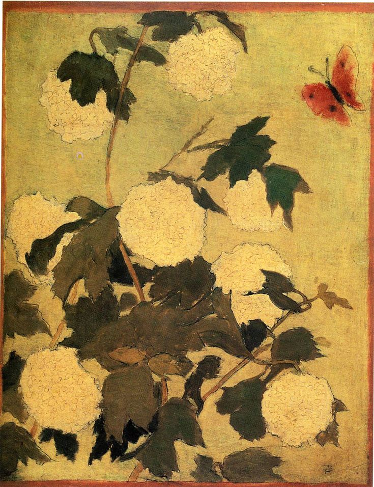 Flowers on a Red Carpet, 1928 by Pierre Bonnard. Post-Impressionism. flower painting. Private Collection
