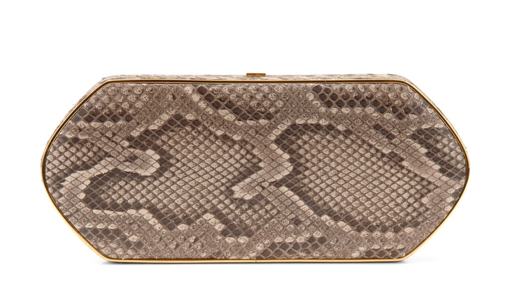 Hunting Season Natural Taupe Python Compact Clutch