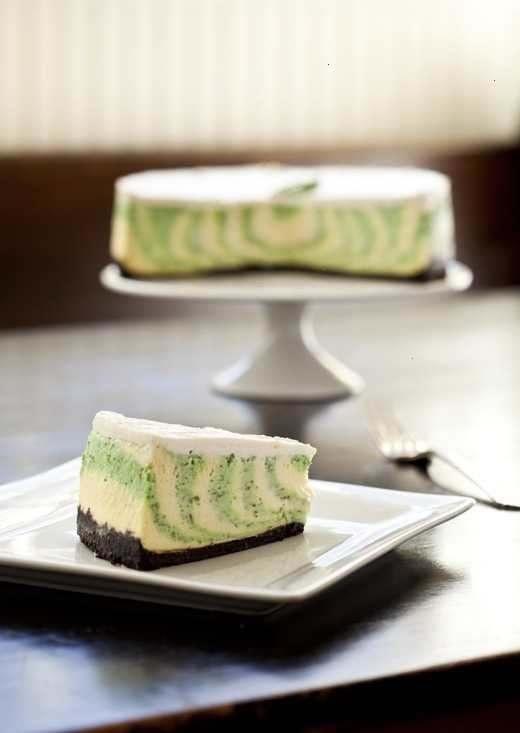 Mint cheesecake. (:
