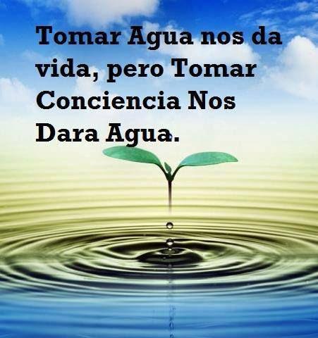 Es el momento de reflexionar. Water is life so use it with conscious choice and gratitude.
