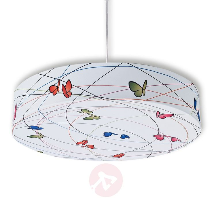 childrens pendant lighting. Textile Pendant Light With Butterflies. Perfect For Children\u0027s Rooms. Childrens Lighting I
