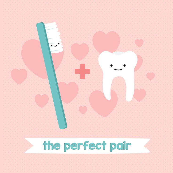TEETH + TOOTHBRUSH = a match made in heaven!