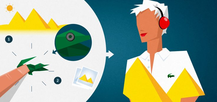 Lacoste Future: Lovely Illustrations! #Depth #Flat #Polygon