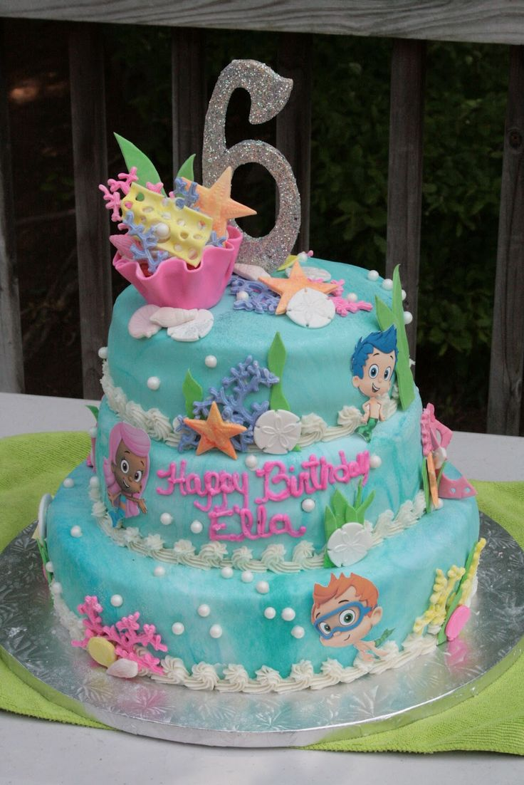 bubble guppies cake decorations | The Sweetest Things: Bubble Guppy. Callie would freak over this cake!