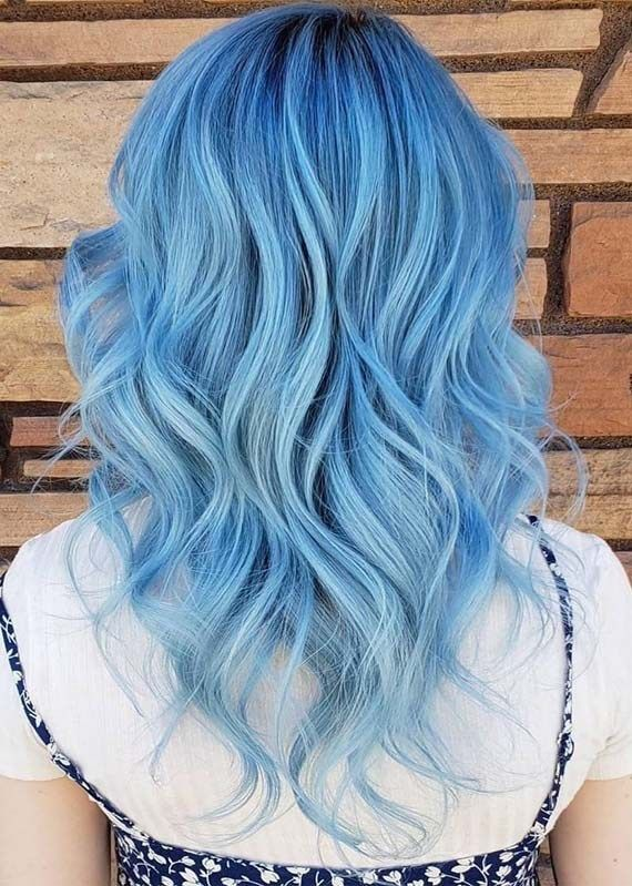 Stunning Blue Hair Colors & Hairstyles for Women 2019