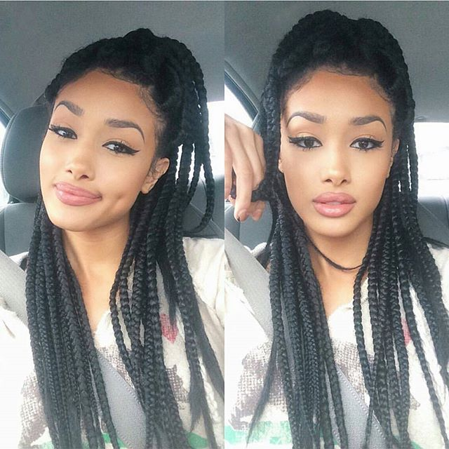 Terrific 17 Best Images About Box Braids On Pinterest Follow Me Poetic Hairstyle Inspiration Daily Dogsangcom