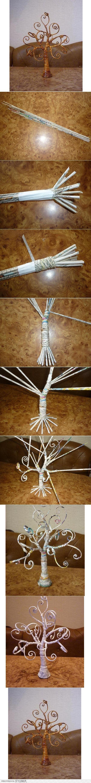DIY Fabulous Newspaper Tree DIY Projects | UsefulDIY.co… na Stylowi.pl