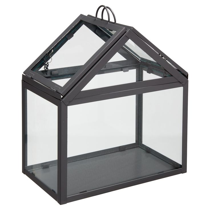 Kweekkas van glas en metaal. Kleur: grijs. Afmeting: 25x15x30 cm. Verkrijgbaar in diverse kleuren. #tuin #LenteKwantum