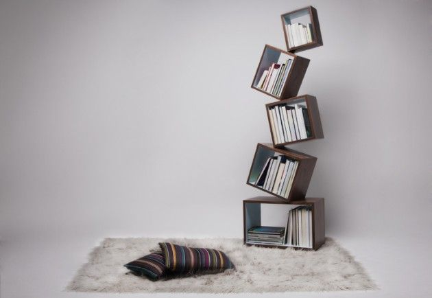 Creative bookcase designs. http://homestrendy.com/creative-and-unusual-bookcase-designs