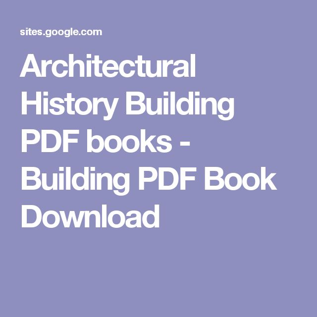 Architectural History Building PDF books - Building PDF Book Download