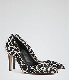 1/28/15 Ivy Print Animal Print Animal Print Court Shoes - REISS