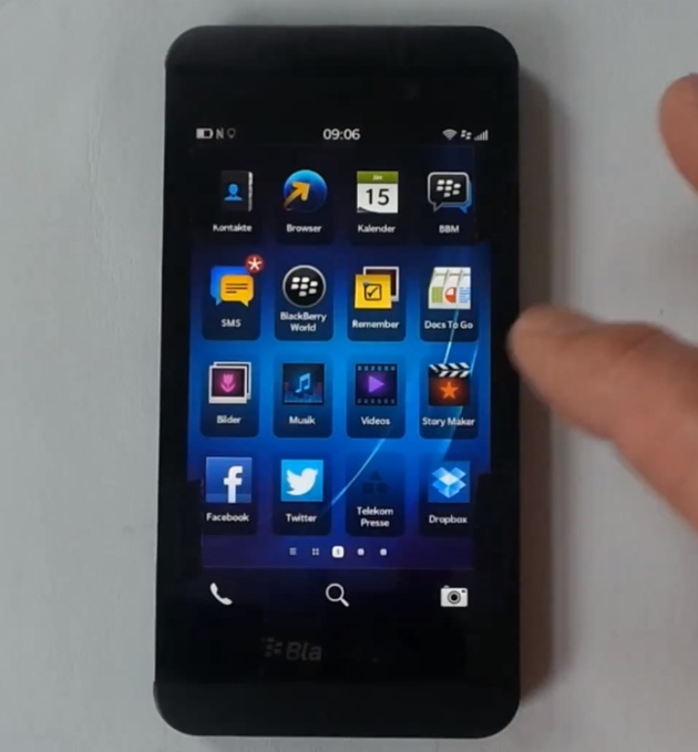 BlackBerry Z10 - the new  Blackberry 10 looks an awful lot like an iPhone.