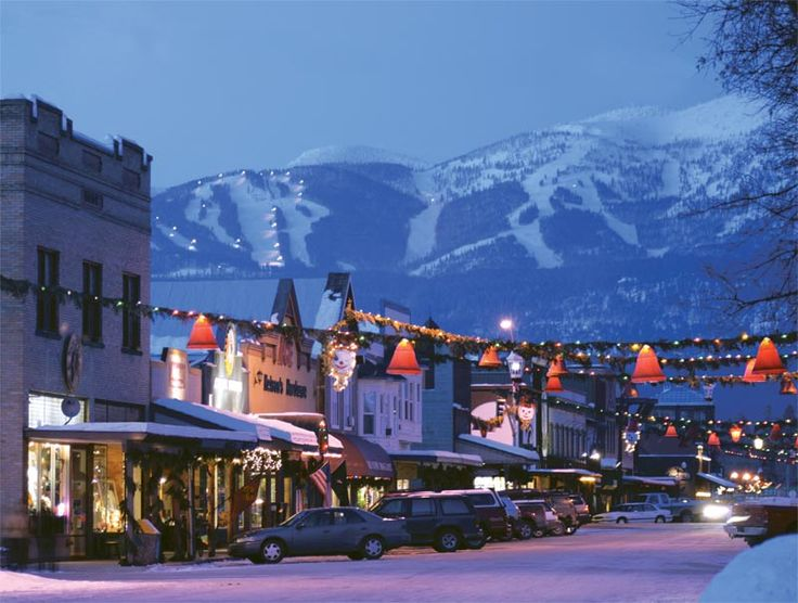 Whitefish, Montana a winter wonderland for skiers who love powder but make sure to wrap up warm. I love it here: Favorite Places, Big Sky, Visit, Travel, Town, Whitefish Montana, Ive, Sweet Home