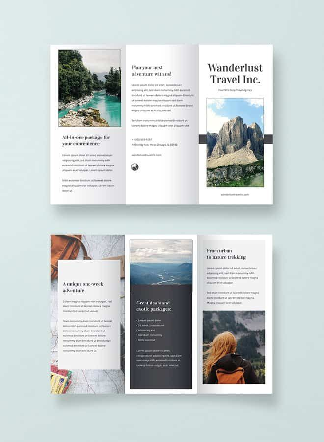 20 Free Ready Made Brochure Templates For Your Projects