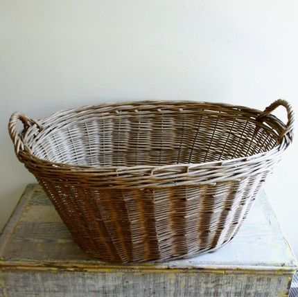 I have this same basket. My mom carried her laundry out to the line to dry. It makes me smile.
