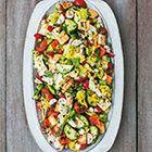 Radijssalade met bleekselderijdressing en zachte kaas - recept - okoko recepten