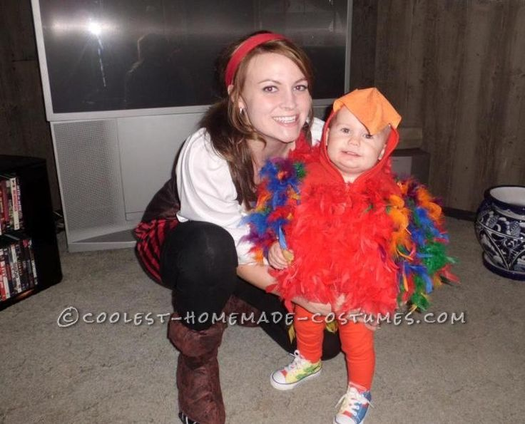 coolest homemade puffy parrot costume for a toddler - Good Halloween Costumes Homemade