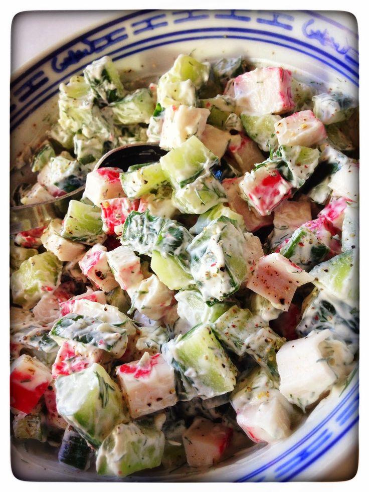 Vrij!gevig: Komkommersalade met surimi & dille