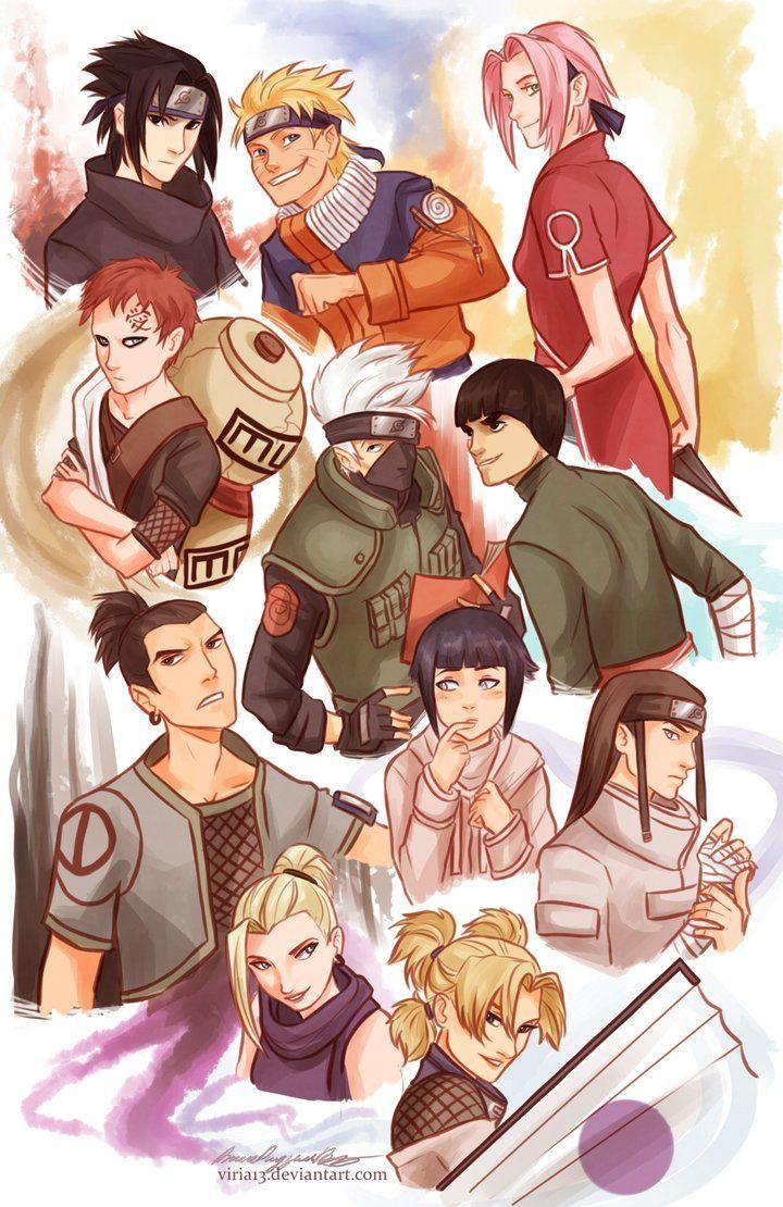 Naruto characters by *viria13 on deviantART Love <3