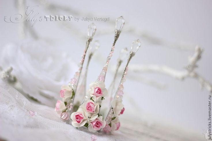 Купить Розовая Корона из цветов - розовый, нежно-розовый, корона, корона из проволоки, розовая корона