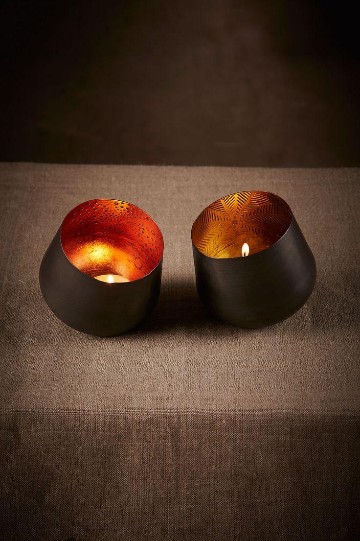 Ember Votives: Copper + gold