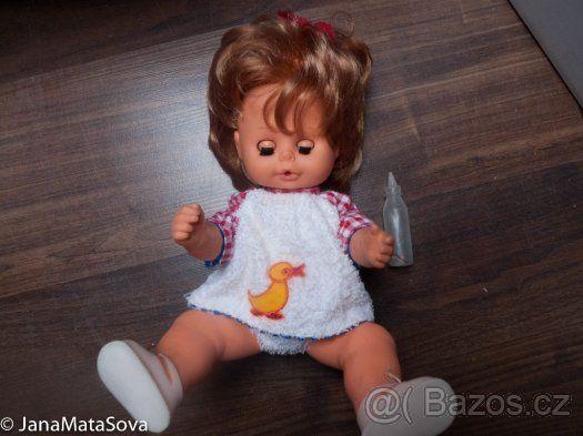 Retro panenka mrkací, čůrající, 80.léta - 1