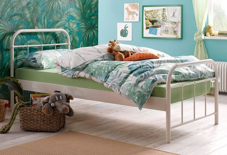Vipack Metallbett ab 119,99€. Stabiles Bett aus Metall, Oberfläche pulverbeschichtet, Gerundetes Kopf- und Fußteil, Seitenteilhöhe 36 cm bei OTTO